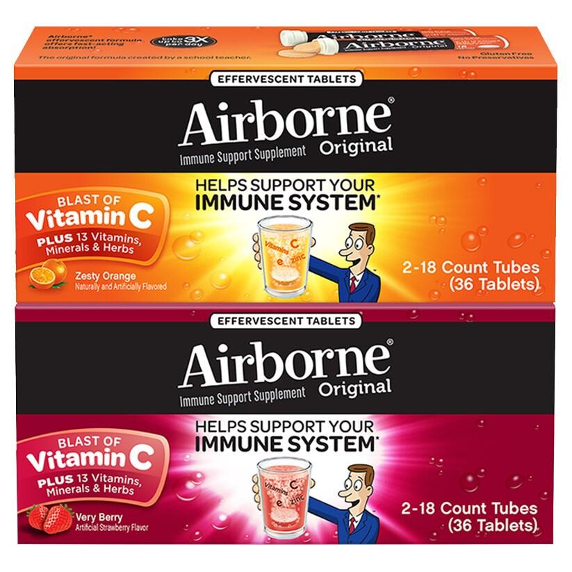 Airborne 多元维生素泡腾片 增强免疫力
