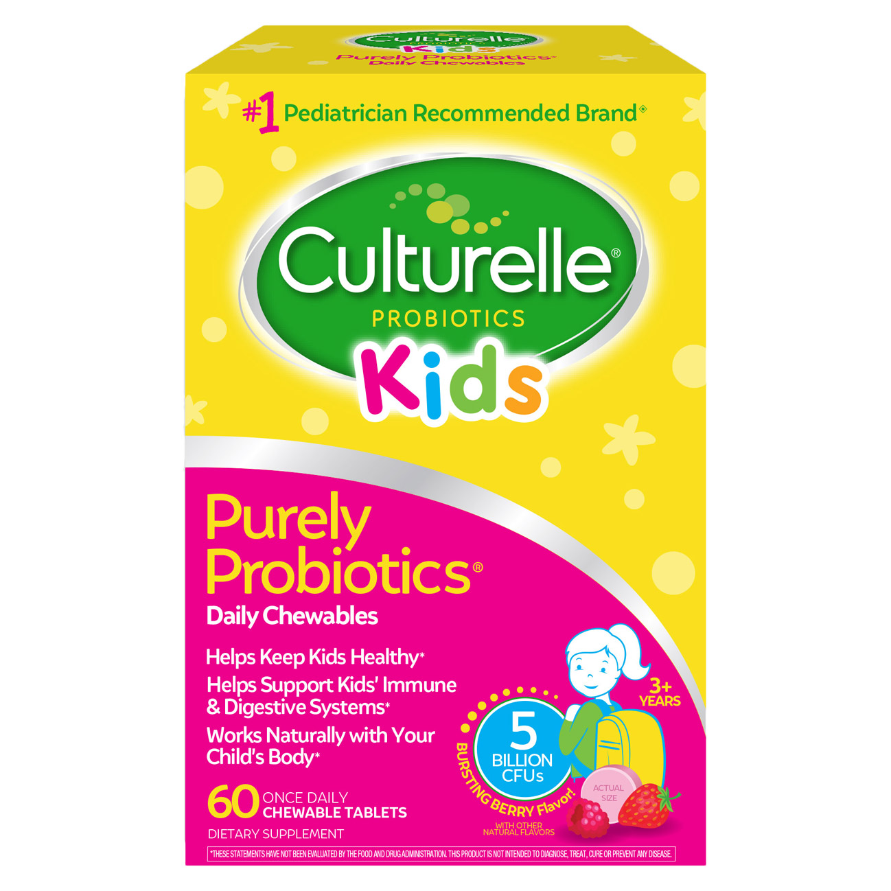 康萃乐儿童益生菌咀嚼片 Culturelle Kids Chewables Probiotic