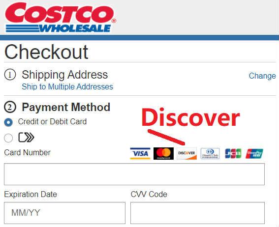 Costco用Discover信用卡结账