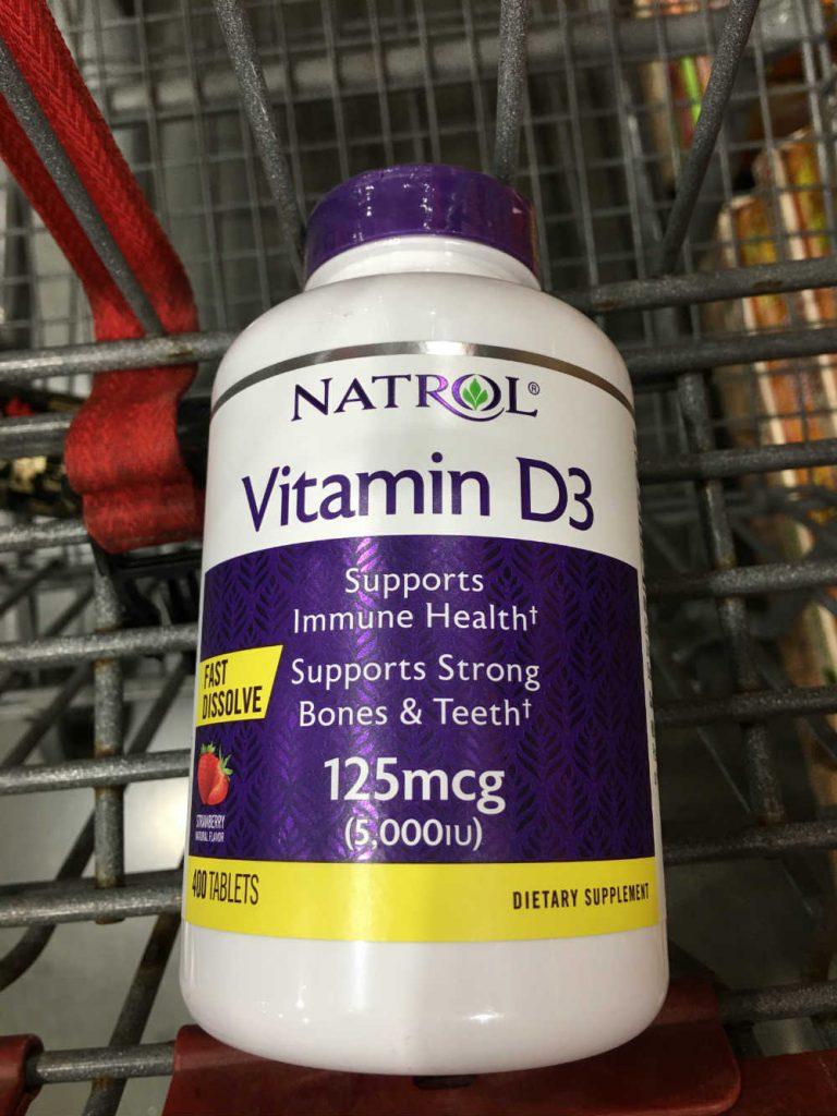 Natrol 耐趣维生素D3咀嚼片,5000 IU(125微克),400片